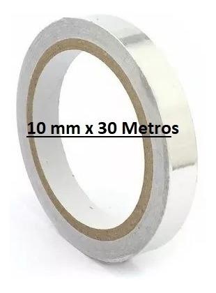 Fita Adesiva Térmica Alumínio Alta Temperatura 10 Mm X 30mts