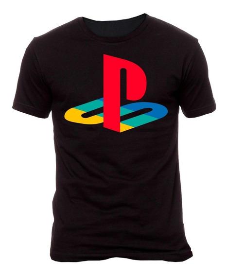 Playera Playstation Logo (vinil)