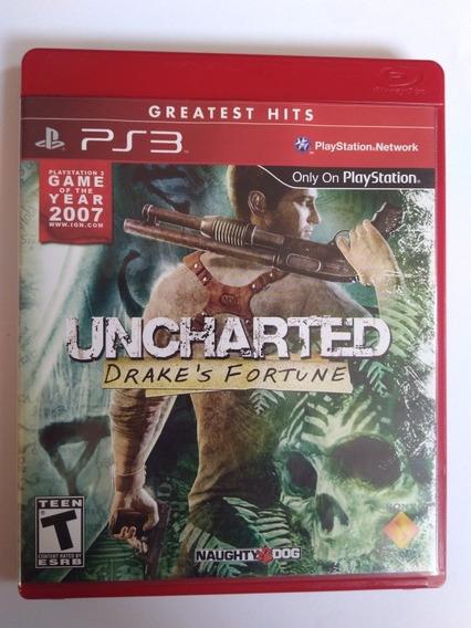 Jogo Uncharted 1 Drakes Fortune Mídia Física Ps3 R$49,90