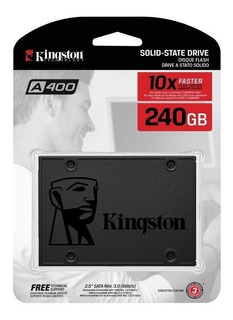 Unidad Estado Solido Ssd Kingston 240 Gb A400 Disco Duro