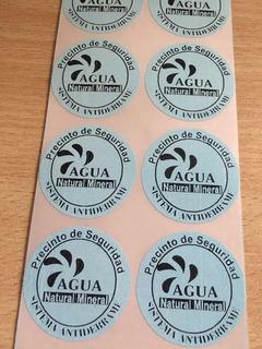 Etiquetas Para Tapa De Bidones De Agua X 1.000 Unidades