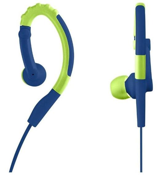 Fone De Ouvido Esportivo Pulse Azul E Verde Ph207 Multilaser