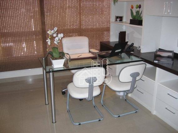 Sala À Venda No Centro Com Vaga, 82 M² Por R$ 480.000 - Centro - Niterói/rj - Sa0092