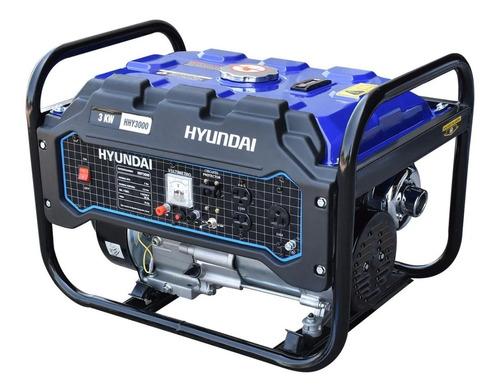 Imagen 1 de 6 de Generador Portatil A Gasolina 3.0 Kw  Hyundai  Hhy3000