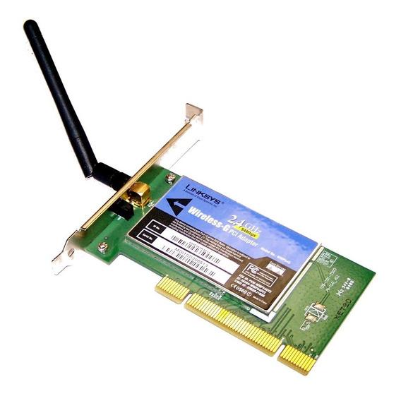 Placa Red Wifi Linksys Wmp54g Wireless-g 2.4ghz Pci