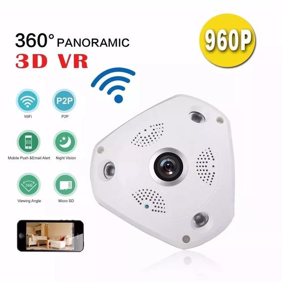 Camera De Segurança Panoramica 3d Wifi Ip Sem Fio 1,3 Mp