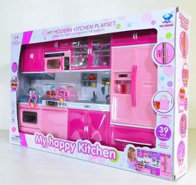 Kit Cozinha Infantil P/ Bonecas Barbie C/ Acessórios 4 Parts