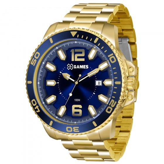 Relógio X Games Dourado Xmgs1019 D2kx Masculino - Refinado