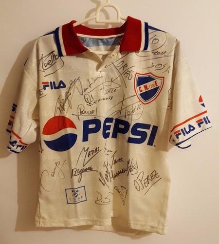 Camiseta De Fútbol Nacional Año 2000 Autografiada Remera
