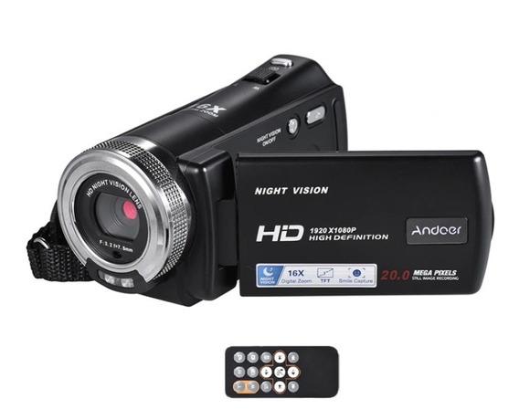 Filmadora Full Hd 1080p 20mp 16xzoom 3 Lcd Visão Noturna