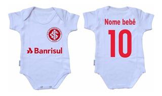 Body Infantil Nenê Personalizado Nome Inter Internacional
