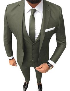Camisa Entallada Con Traje Completo Satinado Import Usa