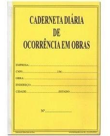 Caderneta Diario De Obras 25x3 Vias - Papelaria Formosa