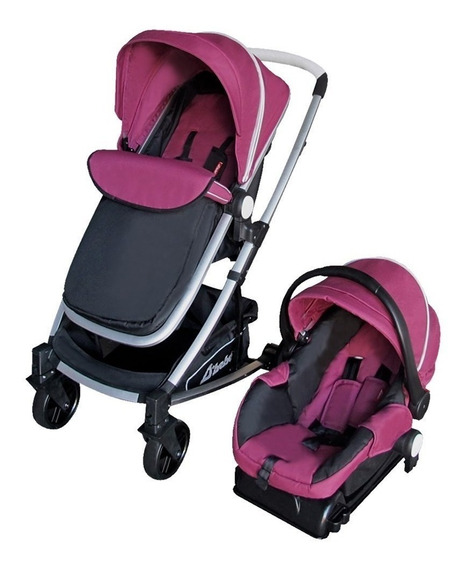 Carriola De Bebe Crown Portabebe Base Bambineto Reclinable