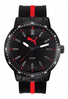 Reloj Deportivo Sumergible Puma Rojo Con Garantía Oficial