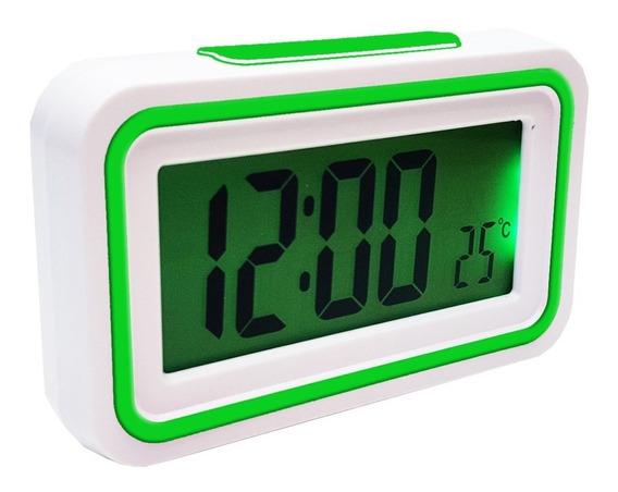 Relógio Despertador Digital Alarme Temperatura Com Voz Fala Horas Kk-9905