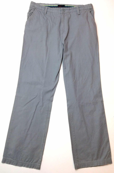 Pantalon Zara Man Gabardina Gris Casual Talle 36