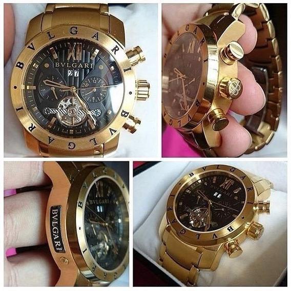 Relógio Gtc461 Bv Iron Man Linha Ouro Original