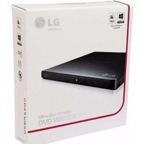 Gravador E Leitor Cd/dvd Externo Lg Gp65 Ultra Slim C/nfe