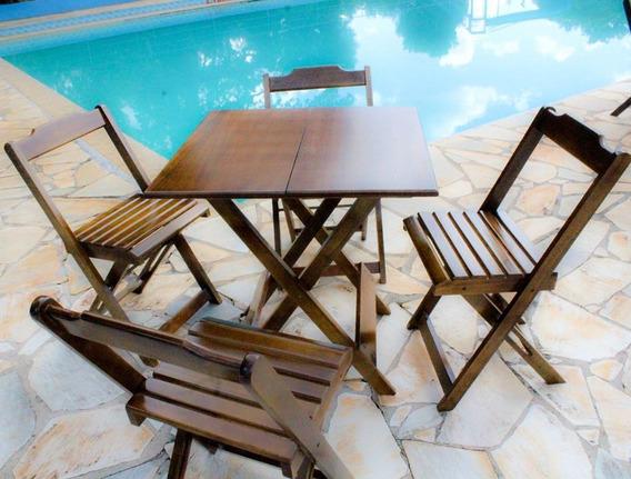 Mesa Com 4 Cadeiras De 70x70 Para Bar E Restaurantes Rei Sol
