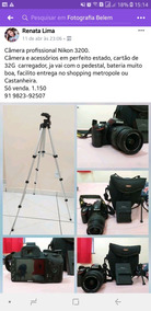 Nikon D3200 Profissional.