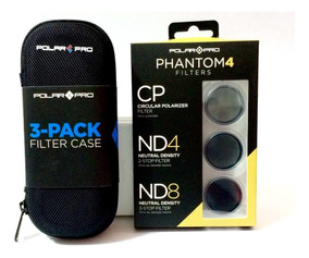 Polar Pro Kit 3 Filtros Para Phantom 4 Cp Nd4 Nd8 + Case