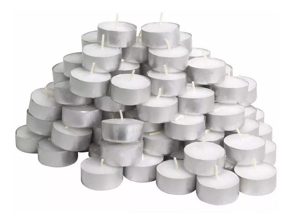 Kit Com 100 Velas Decoração Parafina Rechaud Alumínio