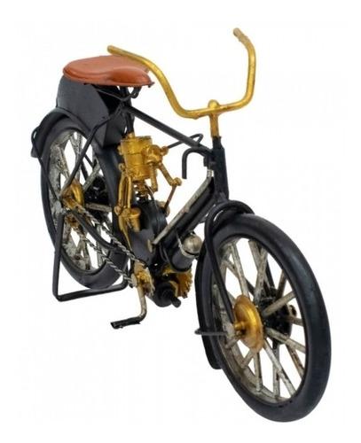 Bicicleta Preta Enfeite 26cm Estilo Retrô - Vintage