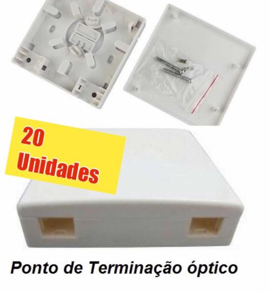 Caixa Terminação Fibra Óptica Roseta Pto 2p (pacote C/20un.)