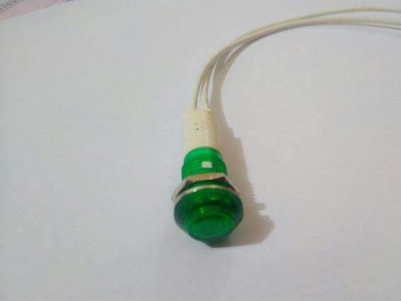 Lâmpada Sinaleiro Olho De Boi 220 Vts Verde
