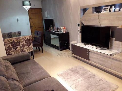 Cobertura Com 3 Dormitórios À Venda, 144 M² Por R$ 585.000,00 - Campestre - Santo André/sp - Co5000