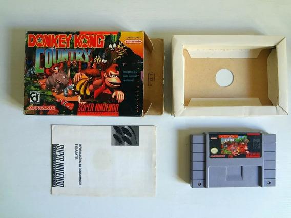 Donkey Kong Country Playtronic Com Caixa - Super Nintendo