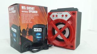 Parlante Portatil Ms-506bt Usb Sd Mp3 Bluetooth Fm Luces Led