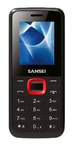 Imagen 1 de 7 de Celular Sansei S191 Dual Sim 3 Mb Negro/rojo 4 Mb Ram