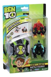 Reloj Ben 10 Omnitrix Omni Lanzador 2 Figuras Oferta