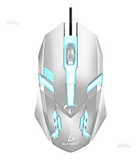Archy Mouse Alámbrico Gamer Gaming Con Luz 3 Botones Ratón
