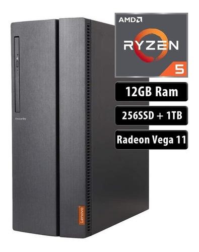 Pc Gamer Lenovo Ryzen 5 3400g 1tb 256 Ssd 12gb Dvd Bt Win 10