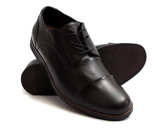 Sapato Social Masculino Preto Tamanho Especial Oxford 6830/2