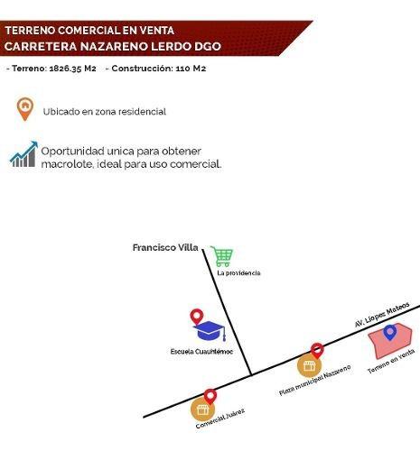 Terreno En Venta Carretera Nazareno Lerdo Dgo