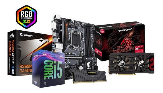 I5 9400f + B360m Aorus + Rx570 + 8gb De Ram - Kit Upgrade