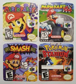 Etiquetas Para Juegos De Nintendo 64 N64 Excelente Calidad