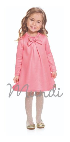 Vestido Infantil Menina 1-2-3 Brandili Pronta Entrega