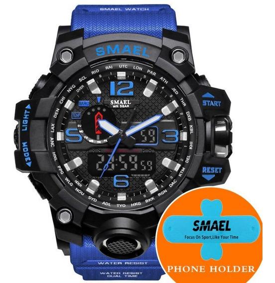 Relógio Masculino Militar Shock S Smael Led 1545 Dual Hora