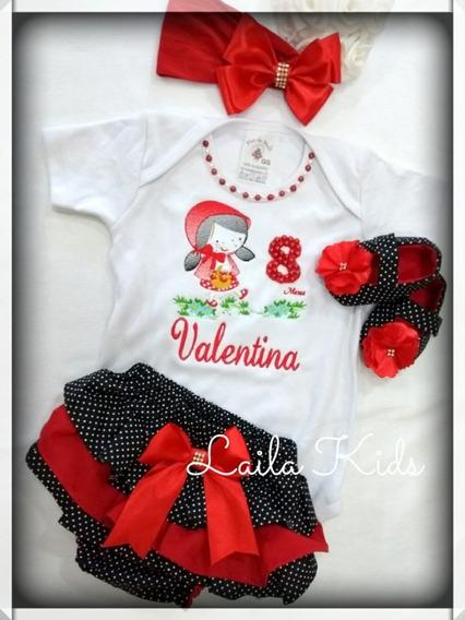 Calcinha Bunda Rica + Tiara + Body Personalizado+ Sapatinho