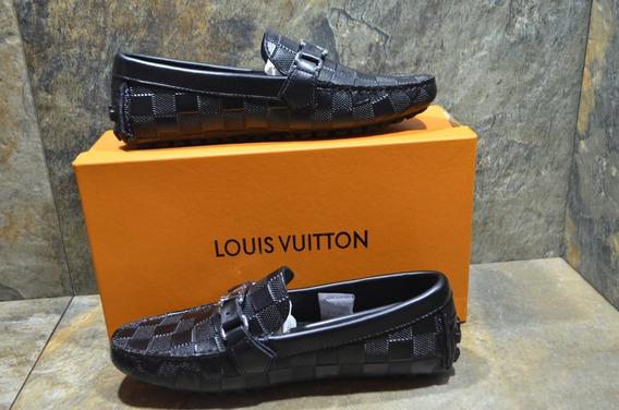 Mocassines Louis Vuitton Negro Caballero Envío Gratis