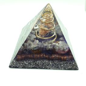 Orgonite Piramide Roxa Ametista