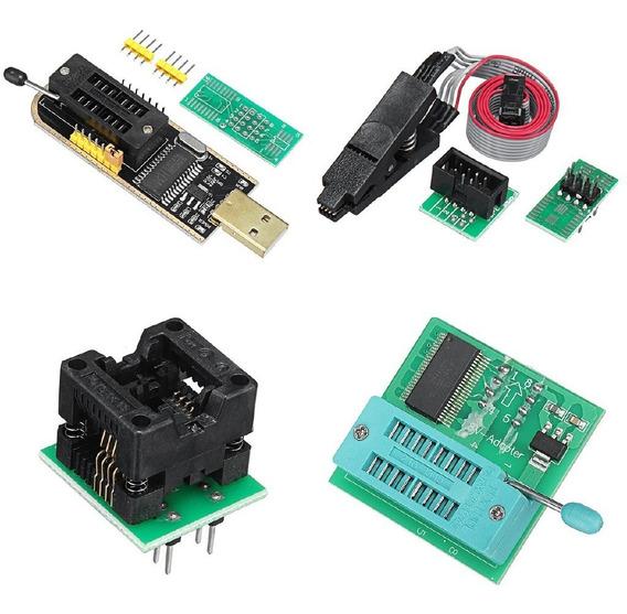 Programador Usb Ch341 Completo Pinza Adaptador 1,8v Zocalo