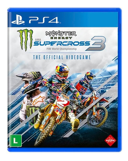 Monster Energy Supercross 3 The Official Videogame - Ps4