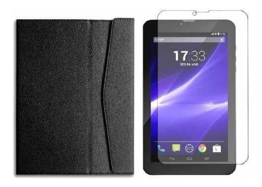 Capa Fam E Película P/ Tablet 9 Multilaser M9 3g Nb247 Nb248