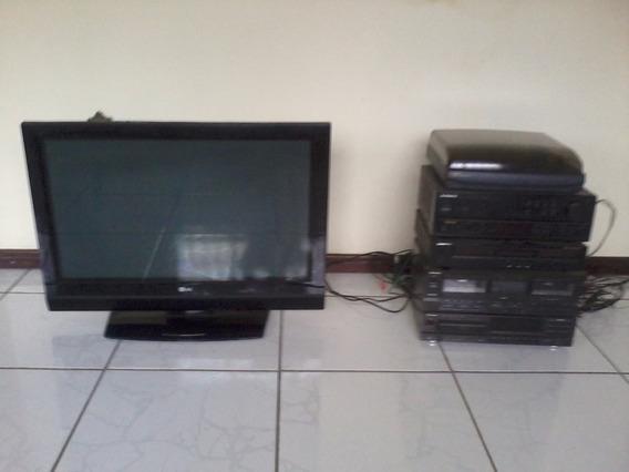 Aparelho De Som E Tv De Plasma